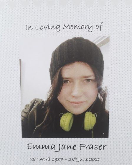 Emma's funeral was held last Monday Picture: SUPPLIED BY FAMILY