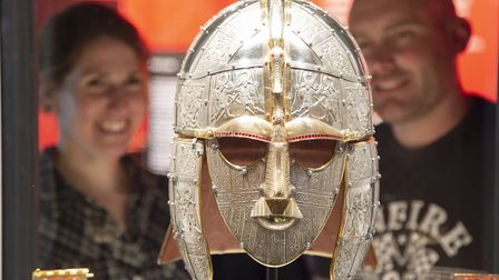 Replica of the king's helmet in the revamped exhibition at Sutton Hoo Picture: PHIL MORLEY
