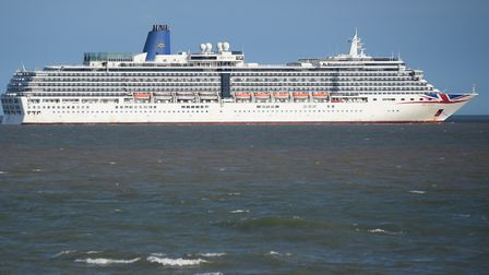The ship is operated by P&O Cruises UK. Picture: DENISE BRADLEY
