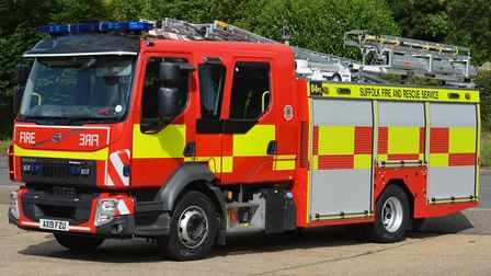 Suffolk Fire and Rescue Service attended the fire near Sudbury Picture: SUFFOLK FIRE AND RESCUE SER