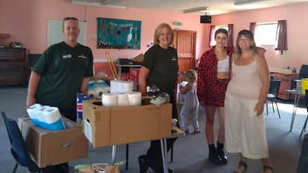 The foodbank at Nansen Road Baptist Church has provided vital support to people during the pandemic
