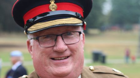 Major James Preston has retired from Suffolk Army Cadet Force after a total of 45 years volunteering