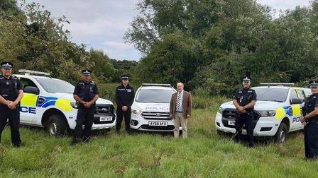 Suffolk's rural crime officers with PCC Tim Passmore Picture: SUFFOLK CONSTABULARY