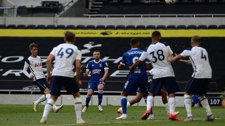 Freddie Sears watches his second half shot sail over the bar during the friendly at Tottenham. Pictu