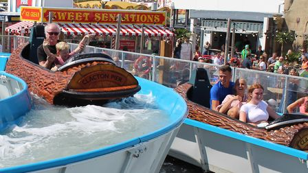 Families enjoyed the new log flume opens at Clacton Pier. Picture: CLACTON PIER