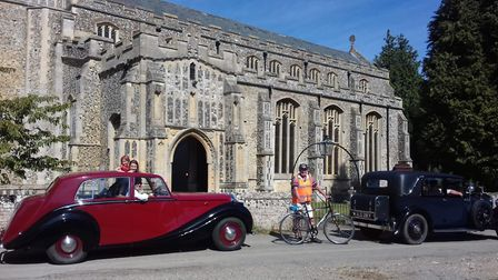 Cyclists and drivers choose their route and call at churches along the way to raise money. Picture: