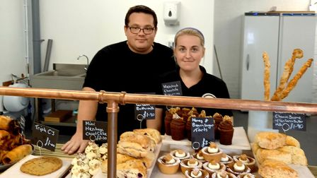 Mark and Sapphire Mills - the pair behind Suffolk's Black Dog Apiaries and Bakehouse