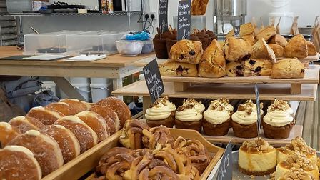 An assortment of honey-based bakes for sale Picture: Black Dog Apiaries
