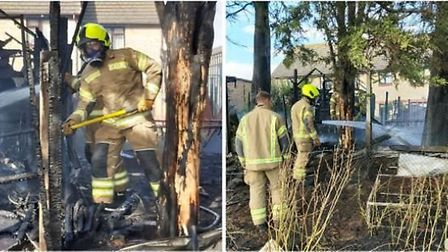 The fire service believe the blaze was started deliberately Picture: ESSEX POLICE