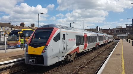 The train to Ipswich waits to leave Lowestoft station. Picture: PAUL GEATER