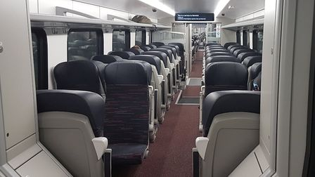There was plenty of space on the train back to Ipswich from London - this is one of the trains that