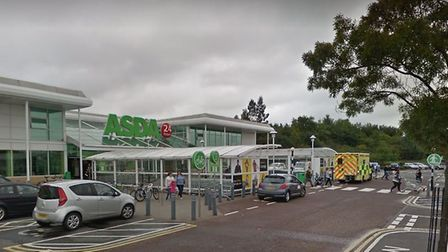The incident happened in the car park of Asda in Turner Rise, Colchester, in September 2019. Picture
