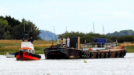 A new project to expand the working space at Woodbridge Boat Yard has begun with the addition of a n