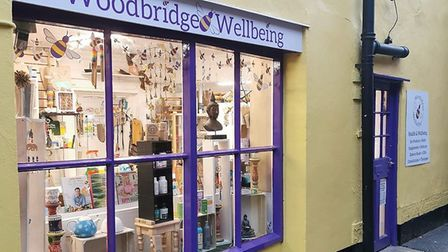 New shop Woodbridge Wellbeing has opened in Elmhurst Walk Picture: JULES BUTTON