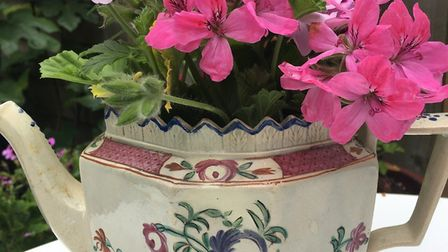 18th century teapots used for flowers - just some of the wares that will be on offer at No6 Southwol