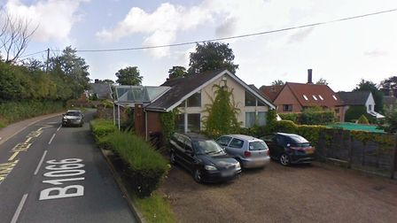 The former GP surgery in Hartest could be converted into a family home if plans are accepted. Pictur