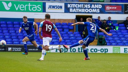 Flynn Downes impressed in Tuesday's 4-1 home friendly loss to West Ham. Photo: Steve Waller