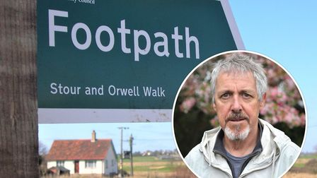 Griff Rhys Jones was infuriated by the cyclists who came through his garden on the Stour to Orwell W