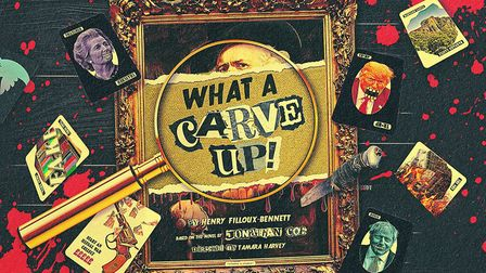 The poster for the world premiere of the murder-mystery What A Carve Up! Photo: New Wolsey Theatre