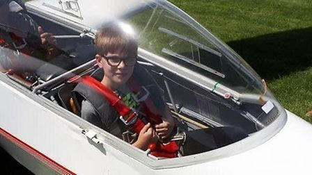 Isaac Jones has always dreamed of becoming a pilot. He has now qualified to fly a glider plane at ju