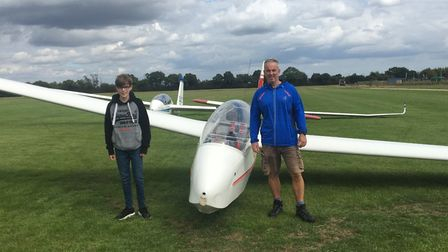 Isaac Jones, 14, and his instructor Mark Butcher, who taught the teenager at the Essex and Suffolk G