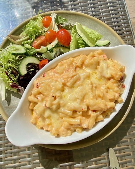 The fresh lobster mac'n cheese special at the Stowupland Crown