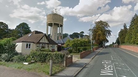 A dozen 5G antennas are to be erected on the top of a water town in West Road, Bury St Edmunds. Pict