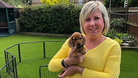 Cystic fibrosis sufferer Sammie Read, of Mendlesham, was one of the first in the UK to test and bene