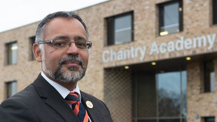 Headteacher of Chantry Academy Craig D'Cunha, has made face coverings mandatory in his secondary sch