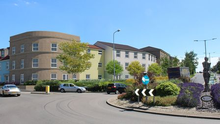 A CGI showing an impression of how the finished retirement development in Bury St Edmunds will look