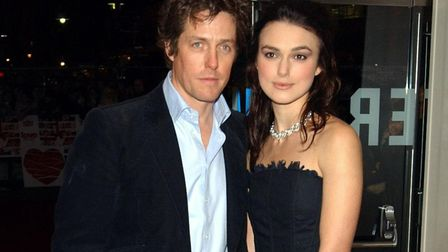 Actors Hugh Grant and Keira Knightley arrive for the UK Charity film Premiere of Love Actually. The
