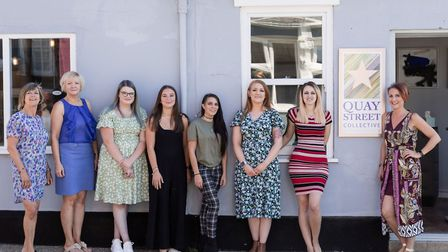 Owners Sophie Thompson and Janene Bush, pictured far right, opened their salon in August, after orig