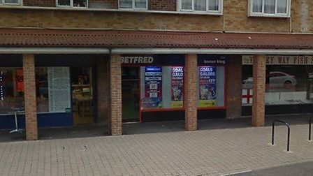 The assault happened outside Betfred in Valley Way, Newmarket Picture: GOOGLE MAPS