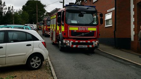 Mill Road in Haverhill was closed due to an incident. Picture: AARON LUCCARINI