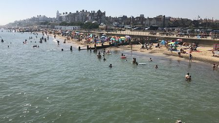 Southwold on the hottest day of the year so far. Picture: Neil Didsbury