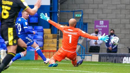 Freddie Sears scores his second and Town's third with a smart angled finish inside the near post. Ph