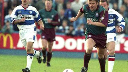 Paul Mason, who scored for Town on this day 24 years ago. He was the club's leading scorer in 1996-9