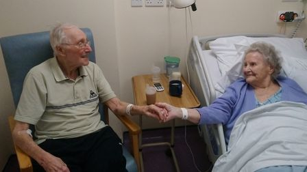 Husband and wife Bob and Joan Fisher visited each other every day during their stay at Colchester Ho
