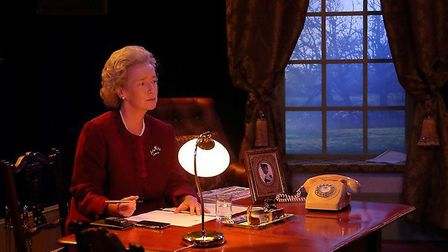 Hilary Greatorex as HM The Queen in All 4 One. Credit David Hermon