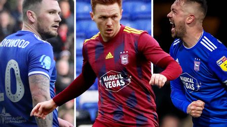 L-R: James Norwood, Jon Nolan and Luke Chambers. Town have a good enough squad to minimum reach the