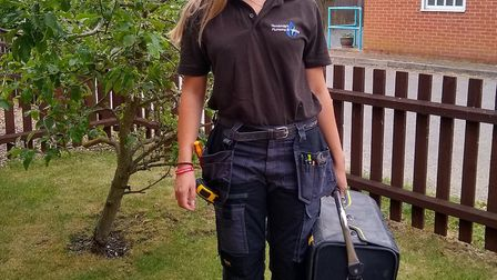 Isabella Stagg works for her uncle, Alan Stagg, at Goodstagg�s Plumbing and Heating. Picture: COURTE