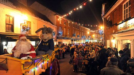 The annual Halesworth Christmas lights switch-on regularly attracts large crowds, but this year's ev