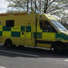 A motorcyclist has been taken to hospital by ambulance after coming off their bike in Halesworth Roa