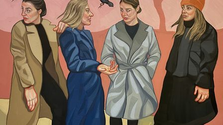 The Meet Up, one of Ania Hobson's latest works, destined for her first London solo show at Catto Gal