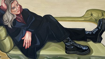 Doctor Martens, one of Ania Hobson's latest works, destined for her first London solo show at Catto