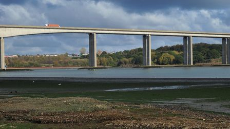 A body was discovered under the Orwell Bridge on Thursday Picture: SARAH LUCY BROWN