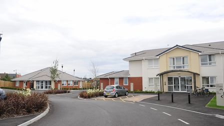 Prince George House in Ipswich, where a resident has tested positive for Covid-19 Picture: LUCY TAYL