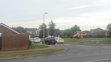 The Kesgrave community has reacted to the shooting in Grange Farm Picture: OLIVER SULLIVAN