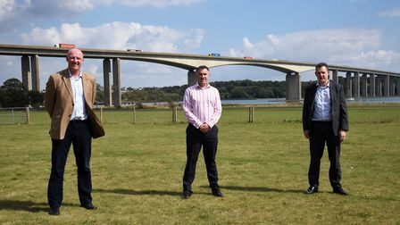 Graeme Bellingham, Steve Carroll and Gregg Brown from Sizewell C supply chain Picture: CHARLOTTE BO