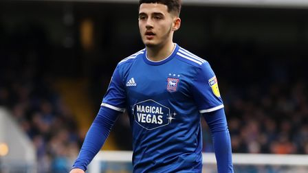 Armando Dobra pictured during Town's 1-0 defeat against Coventry City at Portman Road Photo: ROSS HA